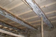 Hotový záklopový strop, spodní patro