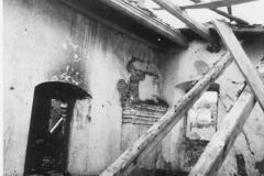 1. místnost jižního křídla po vyhoření