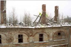 Arkády a východní křídlo po požáru