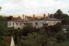 Pohled od jihu na vyhořelý zámek