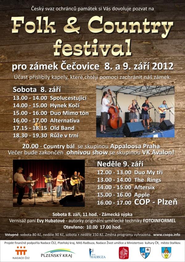 4. ročník dvoudenního festivalu na zámku Čečovice. Tentokrát například s kapelou COP-Plzeň a mnohé další...