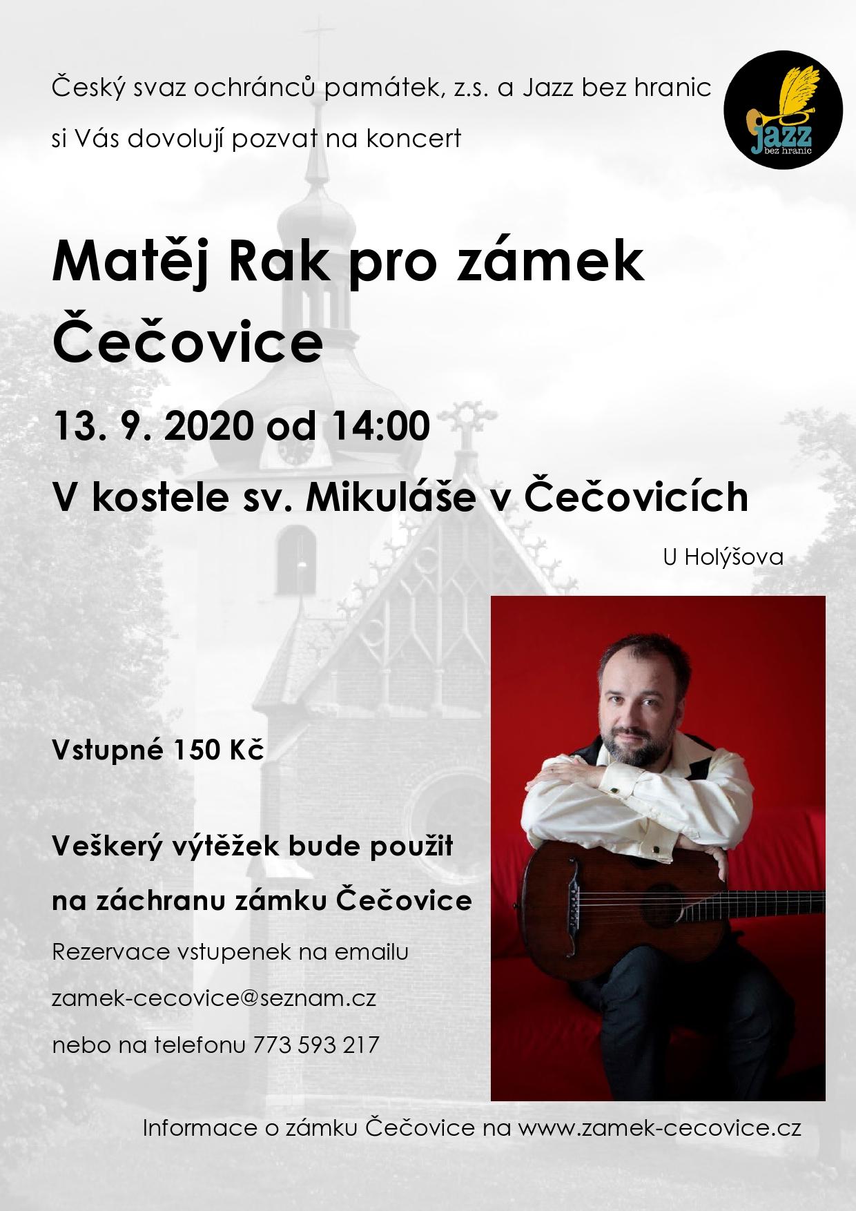 Koncert Jana Matěje Raka