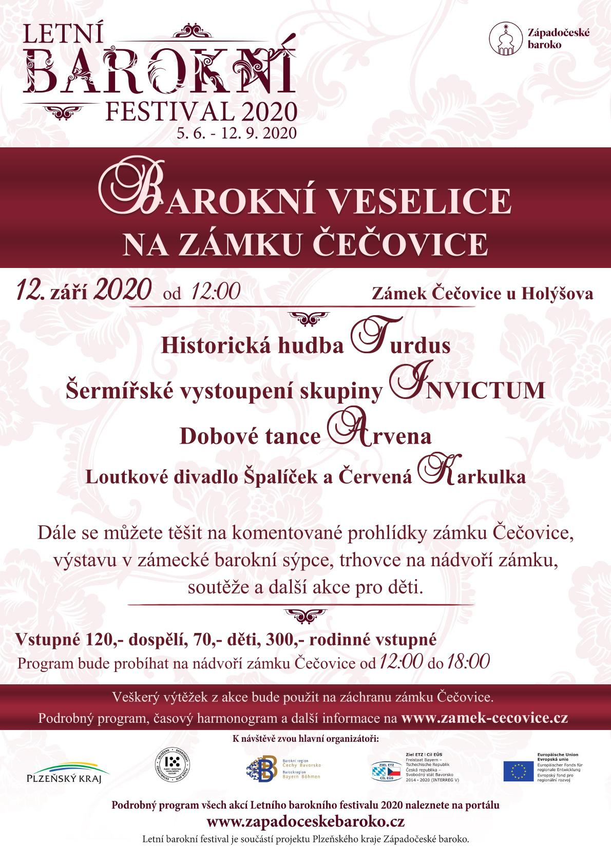 Barokní veselice na zámku Čečovice 2020